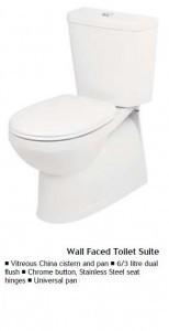 Toilet Pan and Cistern Installation