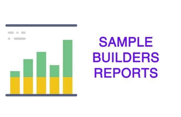 Sample Builders Reports Wellington