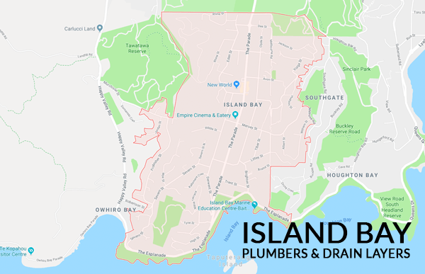 Map of Island Bay Plumbers & Drain Layers Southern Plumbing Wellington