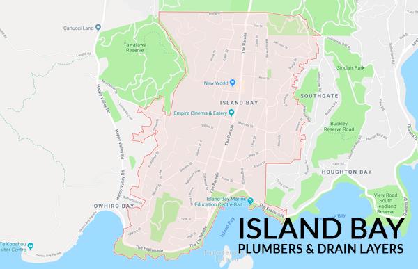 Map of island bay plumbers & drain layers southern plumbing wellington