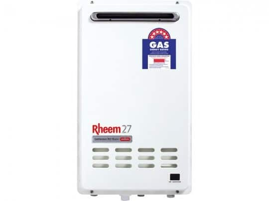 Continuous flow gas water heating - hot water system wellington