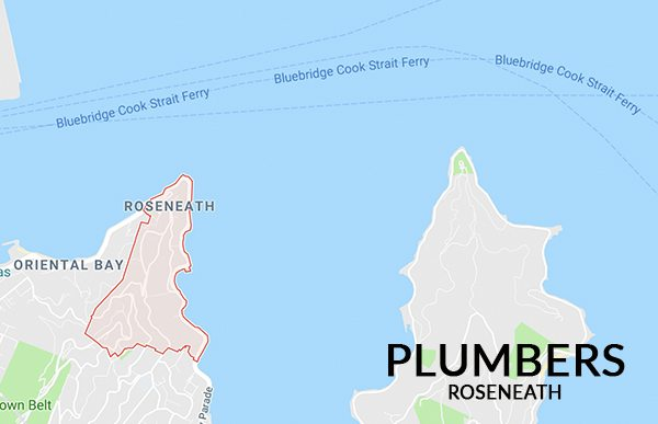 Map of Plumbers Roseneath Southern Plumbing Wellington NZ Area covered