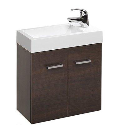 Clearlite mimas 500mm wall-hung hand basin and vanity