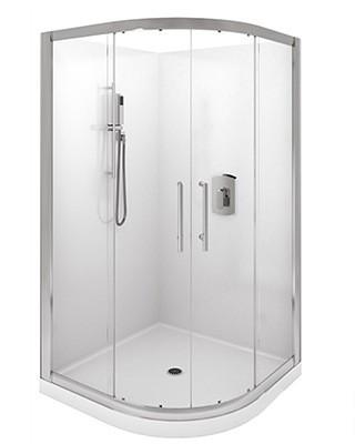 Levivi 900mm round shower enclosure