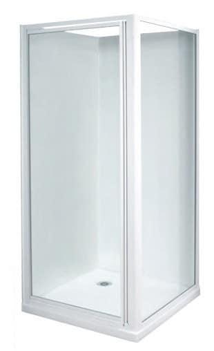 White 900 x 900mm shower enclosure