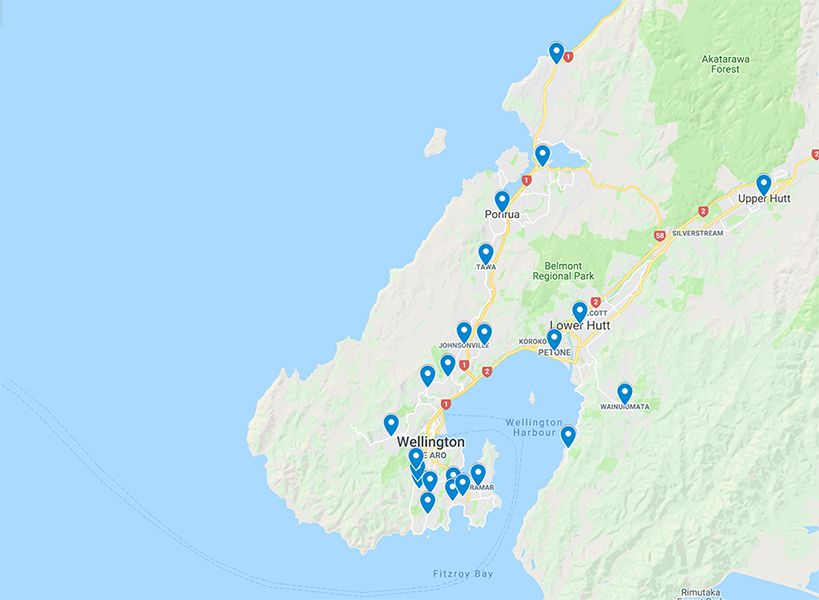 map_areas_covered_southern_plumbing-Wellington-plumbers