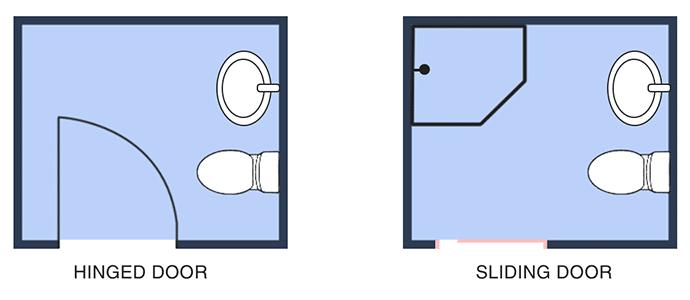 Small Bathroom Renovation - Change Door Style Wellington