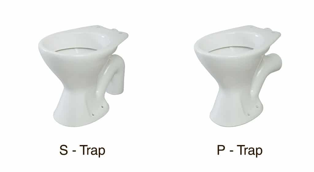 S - Trap and P - Trap toilet in Wellington NZ