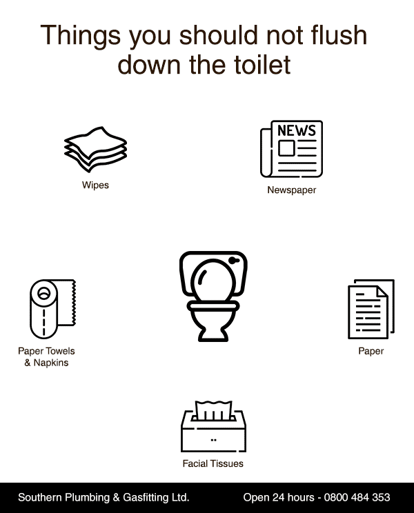 Things you should not flush down the toilet