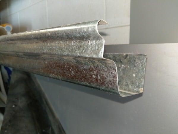 Gutters wellington og spouting profile galvanised