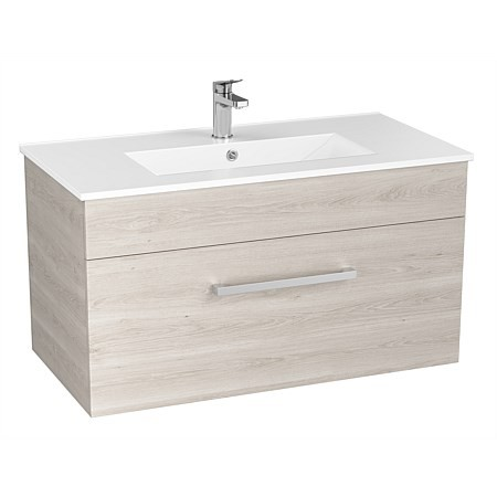 Basin Wellington York Wall Vanity White Oak