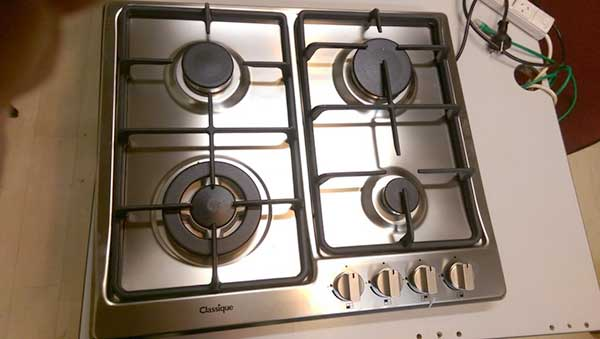 Stainless Steel gas hob in Wellington Gas Hob 4 bnr Classique