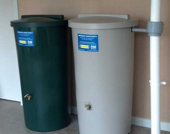 Ecotanks showing the two colours green and beige