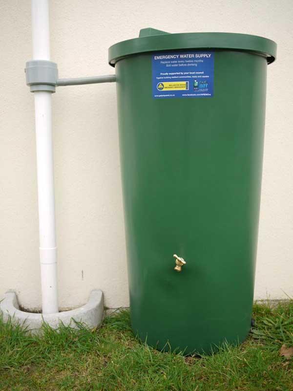 emergency water tank Wellington